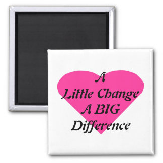 A Little Change a BIG Difference Magnet