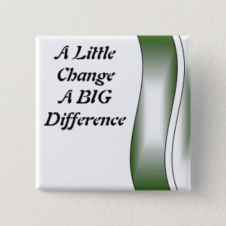A Little Change A Big Difference Pinback Button