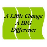 A Little Change A Big Difference Postcard