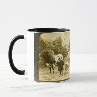A Little Child Shall Lead Them -Vintage Stereoview Mug