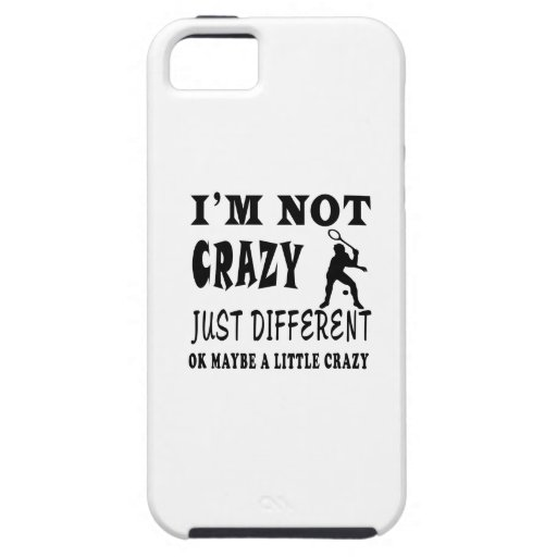 A Little Crazy for Badminton iPhone 5 Cases