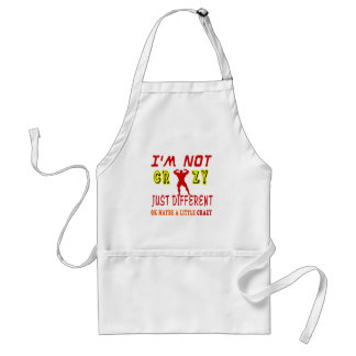 A Little Crazy for Body Building Adult Apron