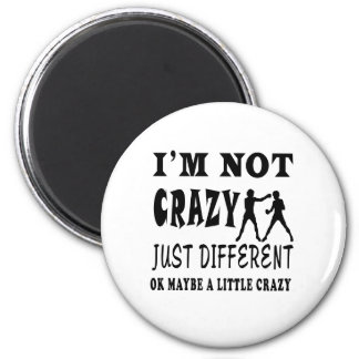 A Little Crazy for Boxing 2 Inch Round Magnet