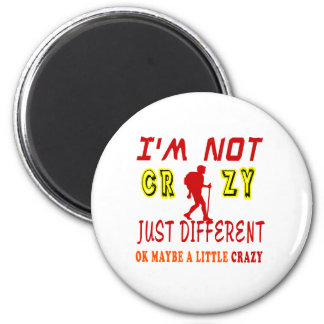 A Little Crazy for Hiking 2 Inch Round Magnet