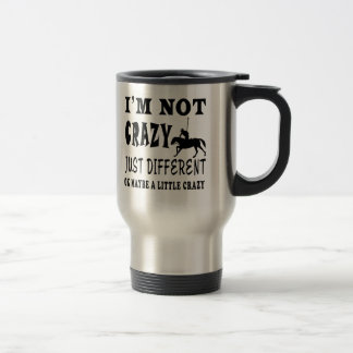 A Little Crazy for Horse Polo Coffee Mugs
