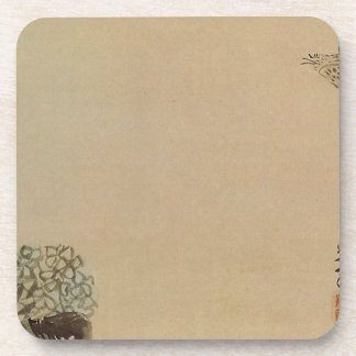 A little cuckoo across a hydrangea (Haiga) by Yosa Coaster
