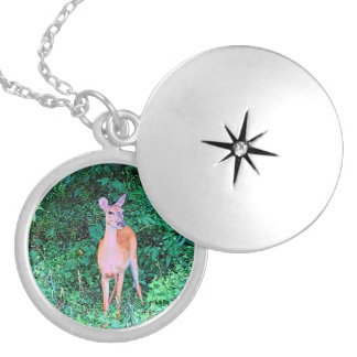A Little Doe Silver Plated Necklace