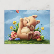 A Little Easter Bunny Holiday Postcard