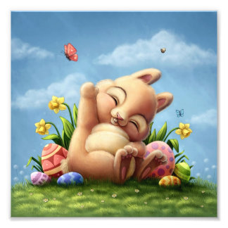 A Little Easter Bunny Photo Print