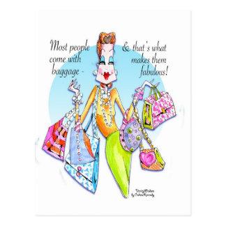 A little Fab' Baggage! Postcard