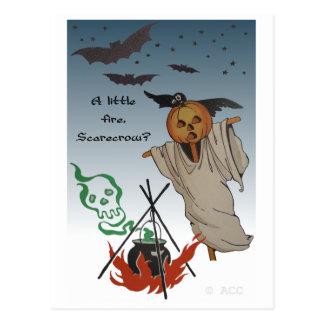 A little fire, Scarecrow? Postcard