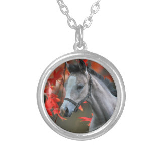 A Little Foal Silver Plated Necklace