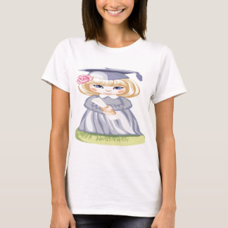 A Little Girl in a Graduation Cap T-Shirt