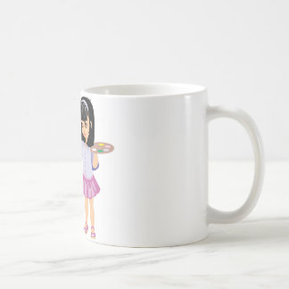 A Little Girl with a Paint Palette Classic White Coffee Mug
