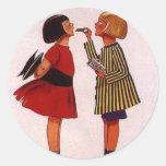 A Little Girl's Delight Classic Round Sticker