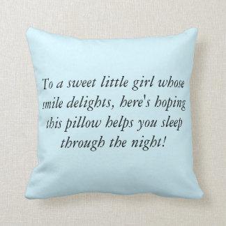 A little girls pillow