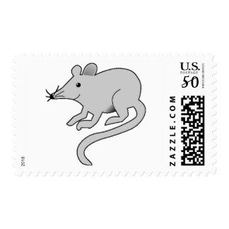 A Little Gray Mouse Postage