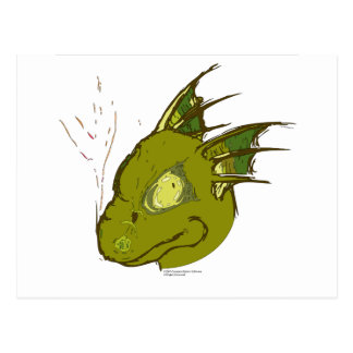 A little green dragon postcards