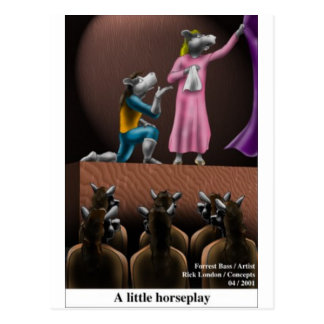A Little Horse Play Funny Horse Cartoon Gifts Postcard