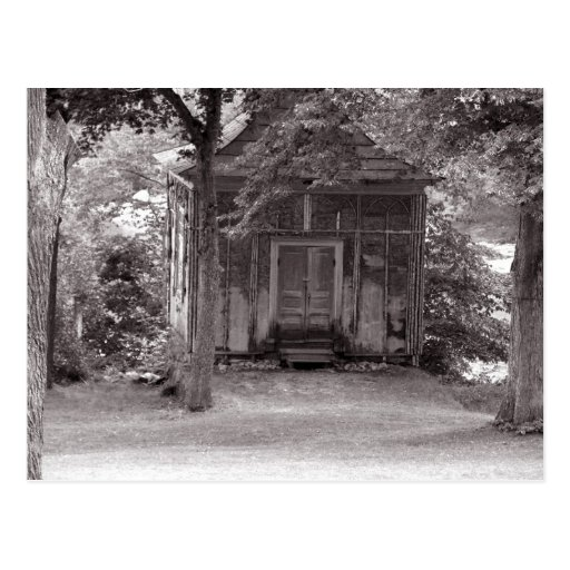 A little house in the woods postcard