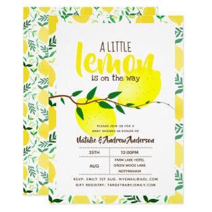 A Little Lemon On The Way Fresh Yellow Baby Shower Invitation