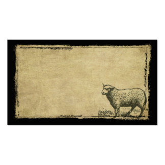 A Little Lone Sheep- Prim Biz Cards