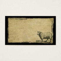 A Little Lone Sheep- Prim Biz Cards
