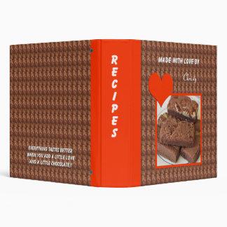 A Little Love & Chocolate 3 Ring Recipe Binder