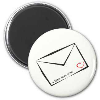 a little love note 2 inch round magnet