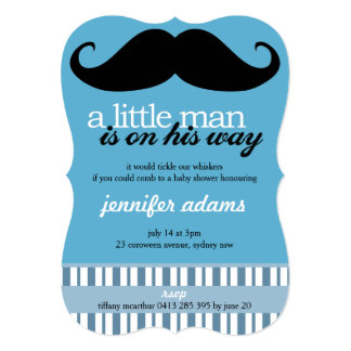 A Little Man Is On His Way Card
