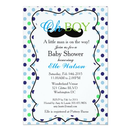 little man is on the way baby shower invitations zazzle
