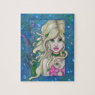 """""""A Little Mermaid"""" fantasy art PUZZLE by Ronne"""