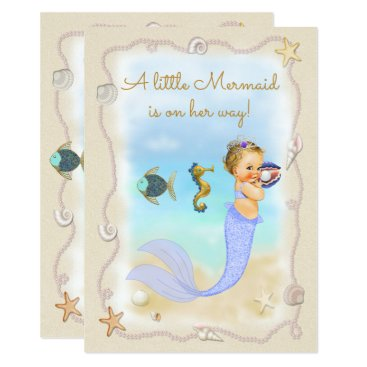 Beach Themed A Little Mermaid is on Her Way! Card
