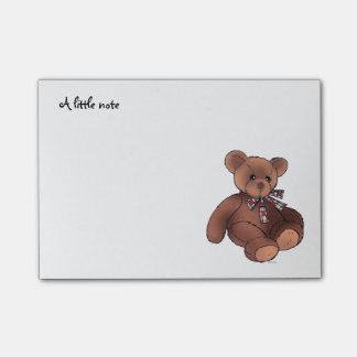 a little note (cute brown teddy bear toy)