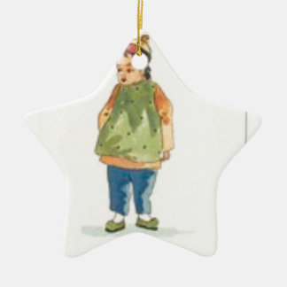 A Little Outkast Chinese Boy Ceramic Ornament