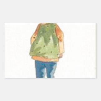 A Little Outkast Chinese Boy Rectangular Sticker