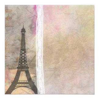 A little Paris ... a little lace wedding invite