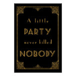 a little party gatsby inspired wedding sign print