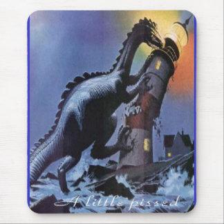 A-little-pissed dinosaur mousepad