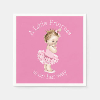 A Little Princess Ballerina Baby Shower Pink Napkin