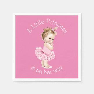 A Little Princess Ballerina Baby Shower Pink Standard Cocktail Napkin