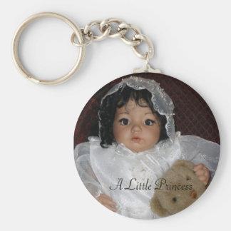 A Little Princess Basic Round Button Keychain