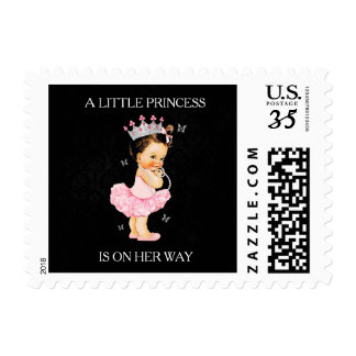 A Little Princess is on Her Way Baby Shower Stamp