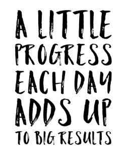 A Little Progress Motivational Quote Postcard