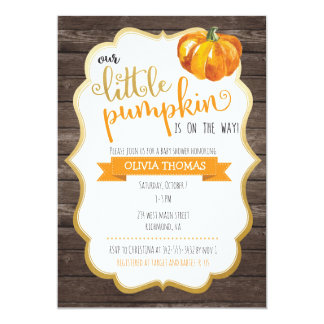 A Little Pumpkin Baby Shower Invitation
