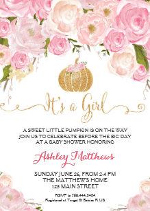 Pumpkin Baby Shower Invitations | Zazzle