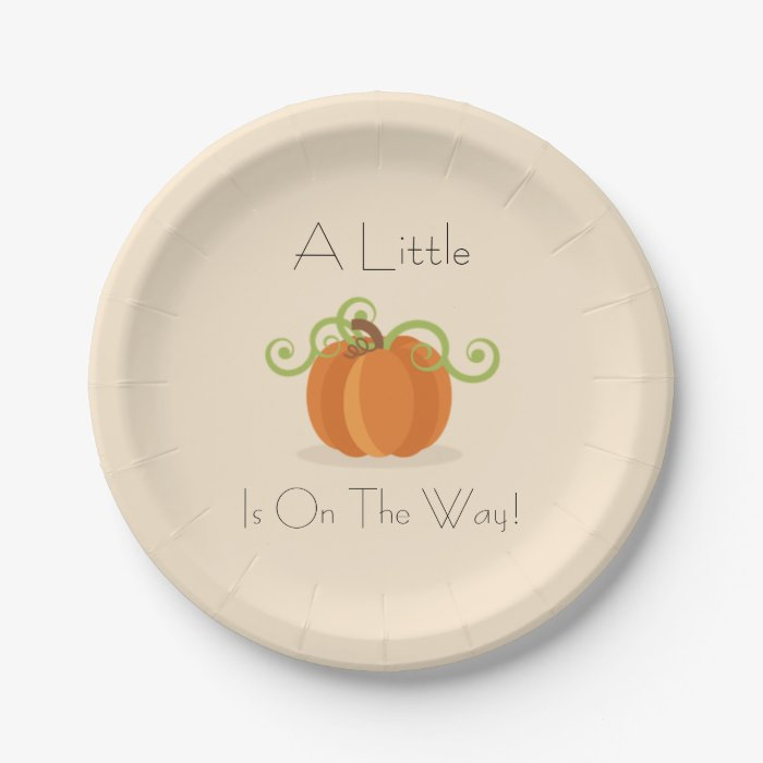 little pumpkin baby shower plates zazzle