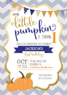 Pumpkin birthday invitations announcements zazzle a little pumpkin first birthday invitation filmwisefo Image collections