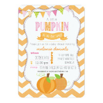 A Little Pumpkin Girl Baby Shower Invitation