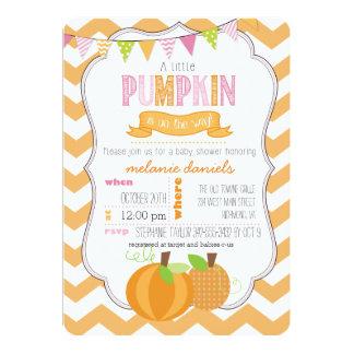 A Little Pumpkin Girl Baby Shower Invitation